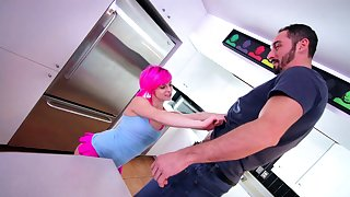 Hardcore fucking in the kitchen with cum loving Anastasya Luna