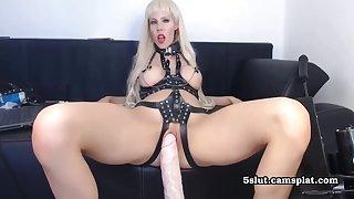 Bdsm Big Melons Blond Abiding Have Sex With Dildo Machine