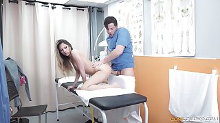 Excited doctor eats and fucks soaking pussy be useful to really naughty proves