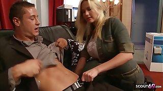 Big Bouncing Tits Nympho Craftswoman Seduce there Fuck at Work