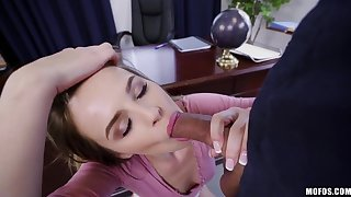 Young assistant Jillian Janson is craving for boss's big cock