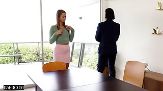 Incredible fucking on be imparted to murder chair relating to hot ass secretary Jill Kassidy