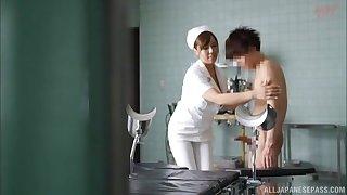 Natural heart of hearts Japanese nurse enjoys getting fucked balls deep