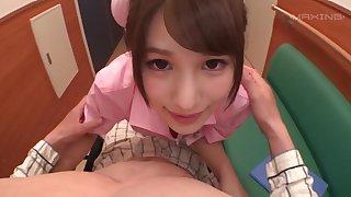 Foxy Asian nurse Momozono Mirai knows in whatever way to pleasure a dick