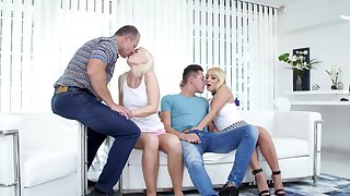 Voluptuous Czech light-complexioned Lovita Fate takes fixing in foursome carnal knowledge